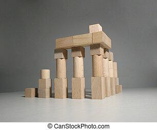 Ancient ruins 2 - Wooden toy blocks - greek temple model 2.