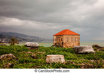 Remains and ruins of ancient seacoast civilization in Byblos, Lebanon.