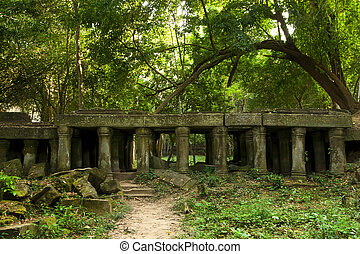 Ancient Ruins in Cambodia - Scenic ancient Cambodian ruins...