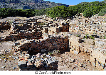 Ancient ruins in Crete, Greece