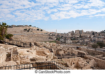 Ancient ruins in Jerusalem