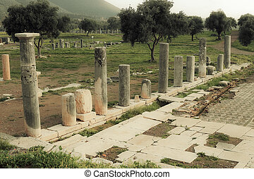 ancient ruins in Messina, Greece