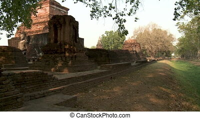 Ancient ruins in Sukhothai Historical Park