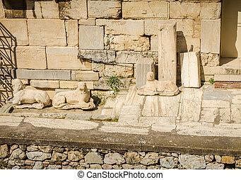 Ancient ruins of Acropolis, Athens.
