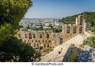 Ancient ruins of Athens, Greece.