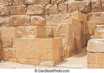 Ancient ruins of Giza. - Ancient ruins of the Giza...