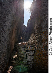 Ancient ruins of Great Zimbabwe (southern Africa)