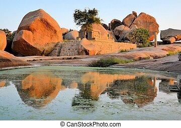 Ancient ruins of Hampi, Karnataka, India