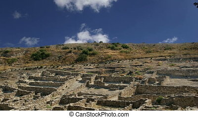 Ancient ruins of Kamiros, Rhodes - Greece  (time lapse)