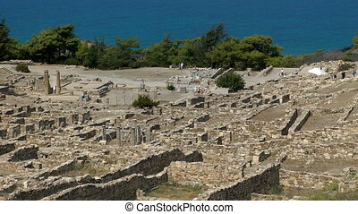 ruins of Kamiros town - Ancient ruins of Kamiros town....