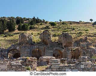 Ancient ruins of old Greek city of Ephesus