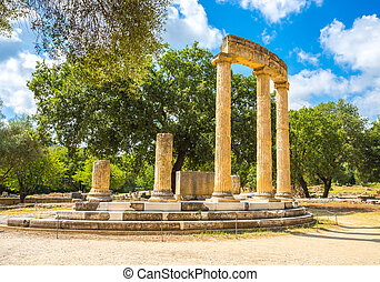ancient ruins of the  Philippeion, Ancient Olympia