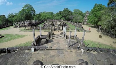 Ancient Ruins of the Royal Court in Polonnaruwa, Sri lanka -...