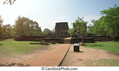 Ancient Ruins of the Royal Palace in Polonnaruwa. FullHD 1080p video