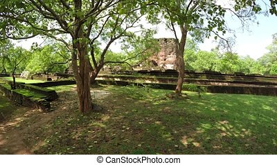 Ancient Ruins of the Royal Palace in Polonnaruwa, Sri Lanka