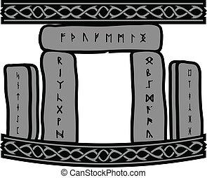 ancient runic stones