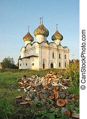 Ancient russian church Voskresenskaya in Kargopol