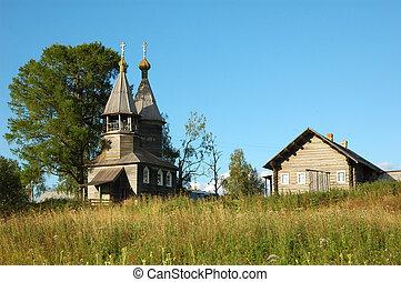 Ancient russian wooden chapel