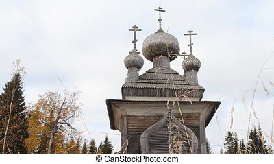 Ancient Russian wooden Church - Very old wooden Church built...
