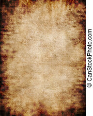 Ancient rustic grungy parchment paper texture background -...