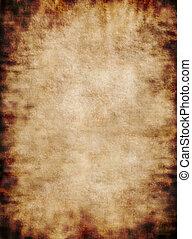 Old rough antique rustic grungy vertical parchment paper texture background