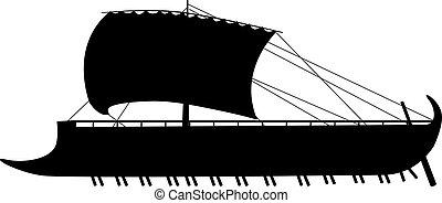 ancient sail boat