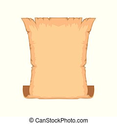 Ancient scroll or vintage parchment with space for text vector Illustration on a white background
