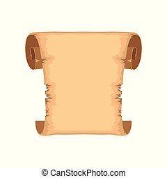 Ancient scroll with space for text, rolled paper vector Illustration on a white background