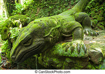 Ancient sculpture in Bali