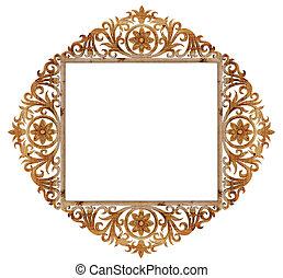 ancient sculpture wood frame