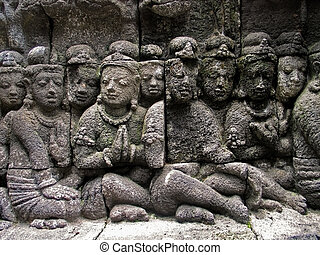 Ancient Sculptures in Java