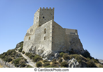 Ancient sicilian castle on a hill