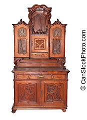 Ancient sideboard. Sideboard 1600-1700. A museum piece...