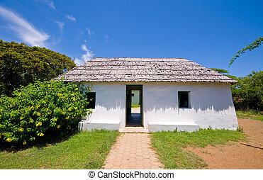 ancient slave house on curacao cas di palhi mashi