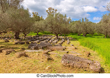Ancient Sparta ruins, Peloponnese, Greece - Sparta, Greece ...