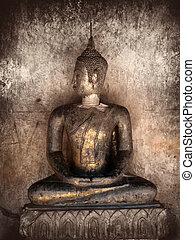 Ancient statue of Buddha
