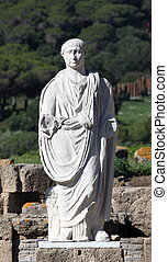 Ancient statue of Cesar in Baleo Claudia, Andalusia, southern Spain
