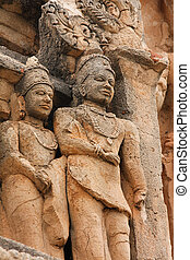 Hampi - Ancient statues in Hampi, South India. These statues...