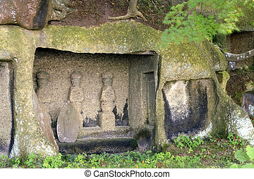 Ancient statues-Matsushima, Japan