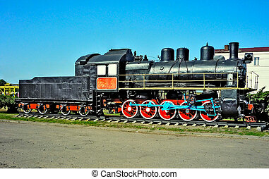 Ancient steam locomotive