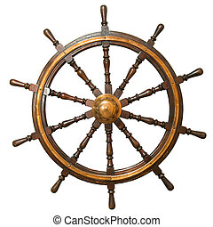 steering whee - Ancient steering wheel from the sailing...