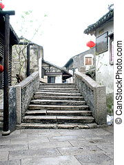 Ancient Stone Bridge at Zhouzhuang (Zhou's Town)