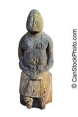 Ancient stone idol - Stone idol. Medieval Turkic Polovtsian...