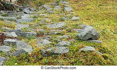 ancient stone path