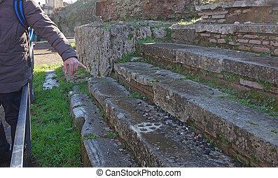 ancient stone Roman game