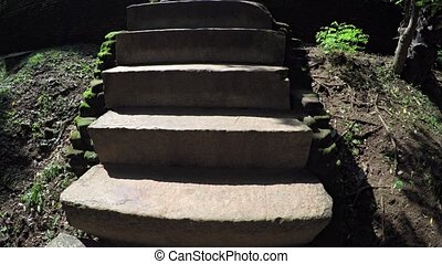 Ancient Stone Steps near the Bathing Pool Ruins of...
