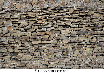 Ancient stone wall, texture