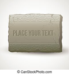 Ancient stones with inscriptions. Vector illustration