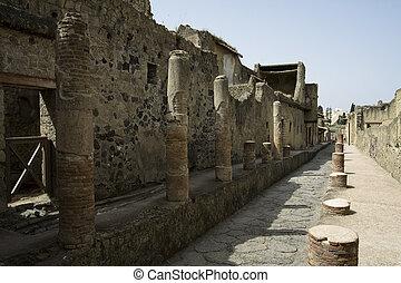 Ancient street in Herculaneum