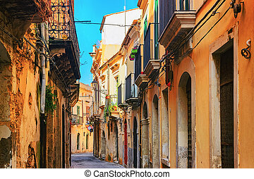 Ancient street in Siracusa Sicily